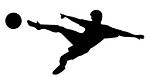 Soccer Player Silhouette v1 Decal Sticker