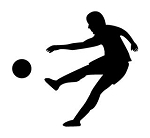 Soccer Player Silhouette v2 Decal Sticker