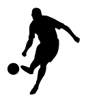 Soccer Player Silhouette v3 Decal Sticker
