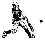 Softball Hitter v1 Decal Sticker
