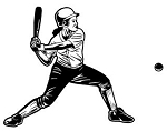 Softball Hitter v2 Decal Sticker