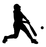 Softball Hitter Silhouette v2 Decal Sticker