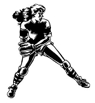Softball Player v1 Decal Sticker