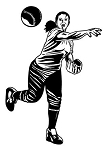 Softball Player v3 Decal Sticker
