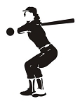 Softball Player v5 Decal Sticker