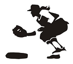 Softball Player v6 Decal Sticker