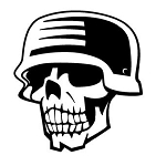 Soldier Skull Decal Sticker
