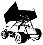 Sprint Car Rear View v1 Decal Sticker