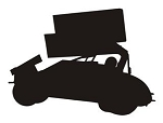 Sprint Car Silhouette v3 Decal Sticker