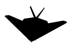Stealth Fighter Silhouette v2 Decal Sticker