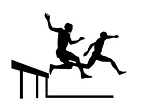 Steeplechase Silhouette Decal Sticker