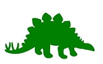 Stegosaurus Silhouette Decal Sticker