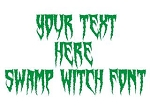 Swamp Witch Font Decal Sticker