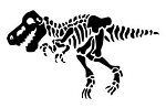 TRex Skeleton Decal Sticker