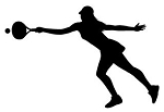 Tennis Girl Silhouette v2 Decal Sticker