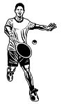 Tennis Player v2 Decal Sticker