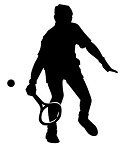 Tennis Player Silhouette v1 Decal Sticker