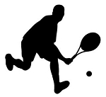 Tennis Player Silhouette v2 Decal Sticker