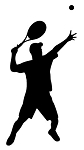 Tennis Player Silhouette v5 Decal Sticker