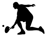 Tennis Player Silhouette v6 Decal Sticker