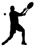 Tennis Player Silhouette v7 Decal Sticker