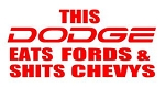 This Dodge Eats Fords Decal Sticker