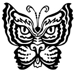 Tiger Butterfly Decal Sticker