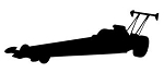 Top Fuel Dragster Silhouette v3 Decal Sticker