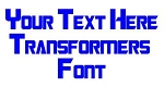 Transformers Font Decal Sticker