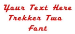 Trekker Two Font Decal Sticker