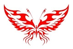 Tribal Butterfly v11 Decal Sticker