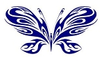 Tribal Butterfly v16 Decal Sticker