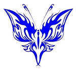 Tribal Butterfly v20 Decal Sticker