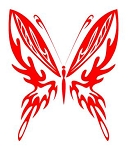 Tribal Butterfly v21 Decal Sticker