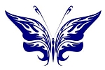 Tribal Butterfly v22 Decal Sticker