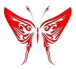 Tribal Butterfly v26 Decal Sticker