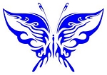 Tribal Butterfly v3 Decal Sticker