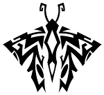 Tribal Butterfly v9 Decal Sticker