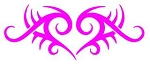 Tribal Heart v5 Decal Sticker