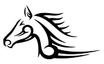 Tribal Horse Head Decal Sticker