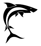Tribal Shark v6 Decal Sticker
