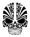 Tribal Skull Decal Sticker