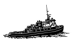 Tugboat Decal Sticker