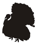 Turkey Silhouette v3 Decal Sticker