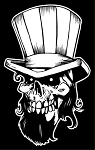 Uncle Sam Skull Decal Sticker