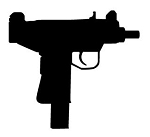 Uzi 9mm Silhouette Decal Sticker
