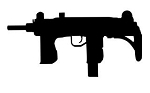 Uzi Silhouette Decal Sticker