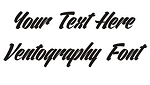 Ventography Font Decal Sticker
