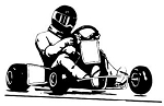 Vintage Go Kart Decal Sticker