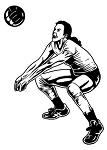 Volleyball Player v2 Decal Sticker
